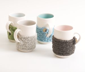 Hand Knitted Mug Cosy - winter homeware