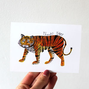 'Thanks Tiger' Thank You Card