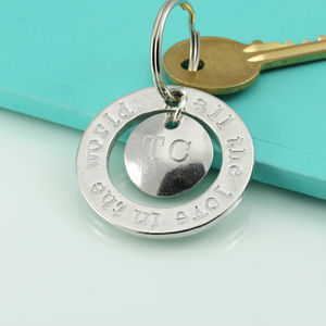 All The Love In The World Pewter Charm Keyring