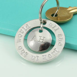 All The Luck In The World Pewter Charm Keyring