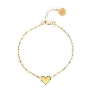 18k Gold Plated Heart Bracelet