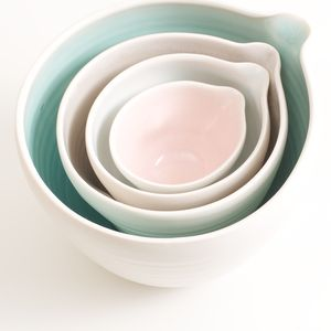 Handmade Nesting Porcelain Bowls - new home gifts