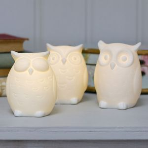 Ceramic Owl Night Light - furnishings & fittings