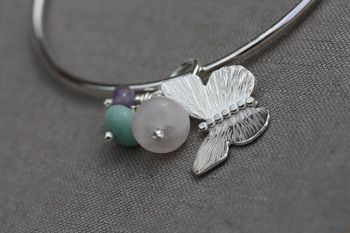 Handmade Silver Butterfly Bangle