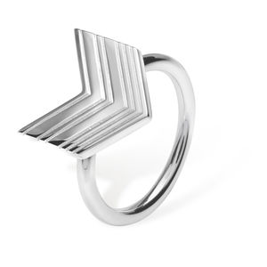 Art Deco Arrow Ring In Silver, Gold Or Rose Gold