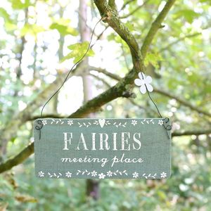 'Fairies Meeting Place' Sign