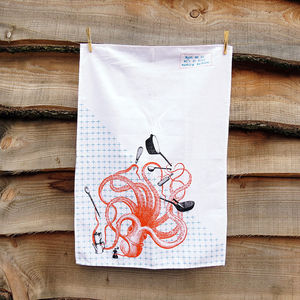 Kitchen Octopus Tea Towel - kitchen accessories