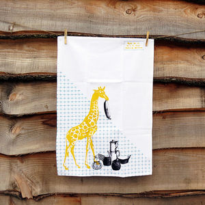 Kitchen Giraffe Tea Towel