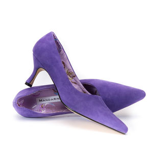 Purple Suede Court Shoe - hen party gifts & styling