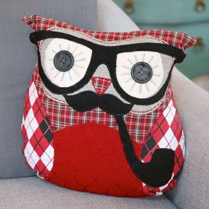 Grandpa Ronald Owl Cushion - cushions
