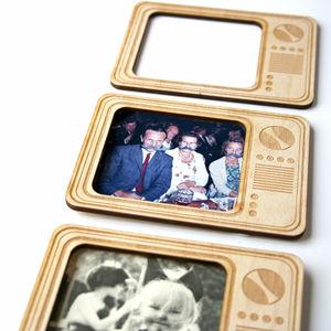 Retro Tv Magnetic Photo Frame