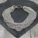 Capri Silver Chain Choker Necklace