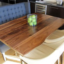 Large Dining Table Walnut Pedestal Hairpin Base