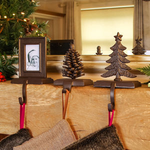 Cast Iron Christmas Stocking Holders - stockings & sacks