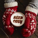 Personalised 'Keep Cosy' Hot Chocolate Stencil