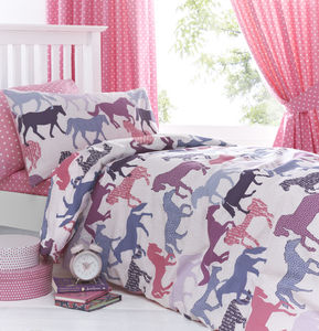 Gallop Horse Duvet Set - soft furnishings & accessories