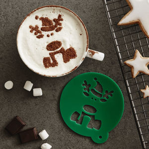 Children's Christmas Reindeer Hot Chocolate Stencil - teas, coffees & infusions