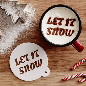 Personalised Christmas Motto Hot Chocolate Stencil