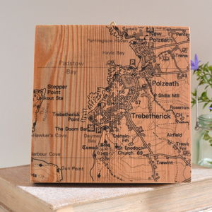 Personalised Map Timber Artwork - gifts for clients