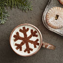 Christmas Snowflake Hot Chocolate Stencil