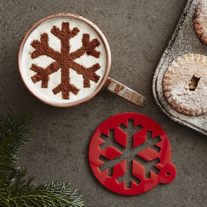 Christmas Snowflake Hot Chocolate Stencil - food & drink gifts