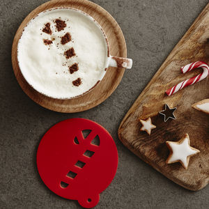 Christmas Candy Cane Hot Chocolate Stencil