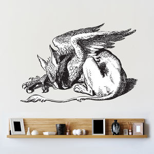 Alice In Wonderland Griffin Wall Sticker