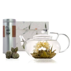 Grand Lotus Flowering Tea Gift Set With Glass Teapot