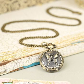 Busy Butterfly Watch Necklace