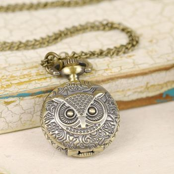 Owl Be On Time Watch Necklace