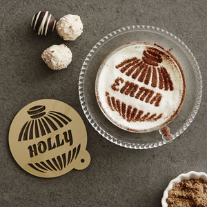 Personalised Bauble Hot Chocolate Stencil - baking