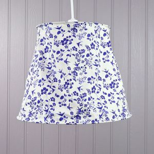 China Blue Floral Lampshade - lampshades