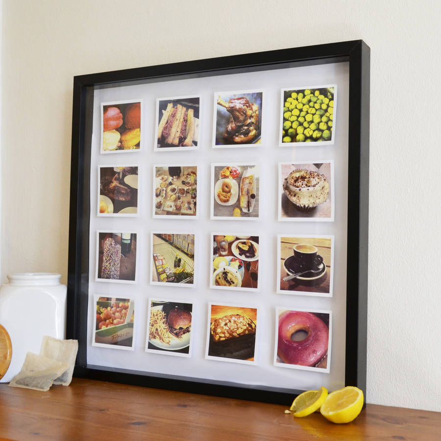 Personalised Photos 3 D Box Framed Print By Instajunction