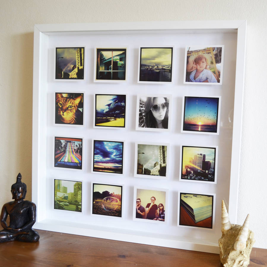 personalised photos 3d box framed print by instajunction ...