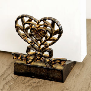 Cast Iron Heart Door Stop