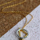 925 sterling silver with black finish, 9ct yellow gold plate, standard trace chain