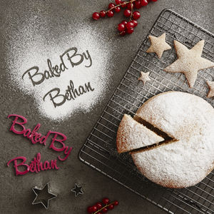 Personalised 'Baked By' Baking Stencil - kitchen