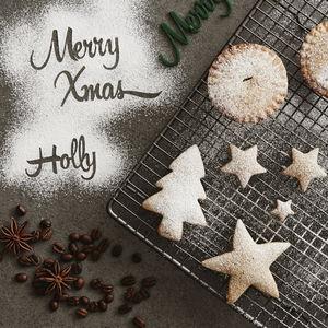 Personalised Christmas Baking Stencil