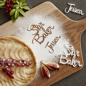 Personalised 'Star Baker' Baking Stencil - occasional supplies