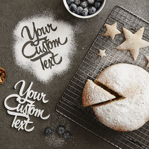 Personalised Custom Baking Stencil - decoration