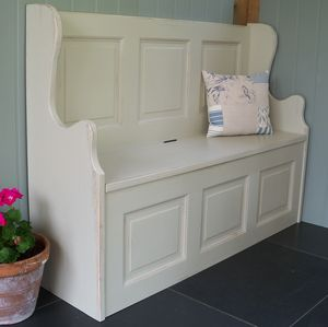 Three Seater Monks' Bench Hand Painted In Any Colour - chests & blanket boxes