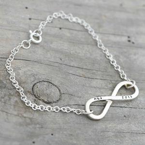 Personalised Silver Infinity Bracelet - jewellery for women