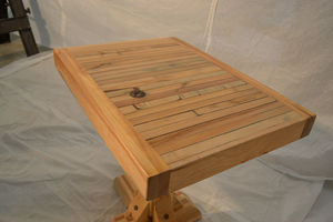 Reclaimed Side Table: Traditional Trestle Leg Design