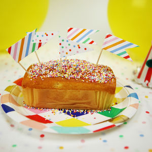 Spotty And Stripy Cake Toppers - food gifts