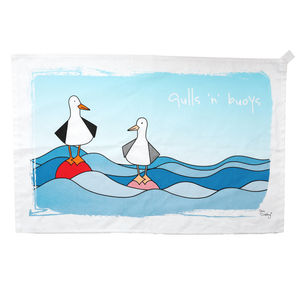 Gulls N' Buoys Tea Towel - tea towels