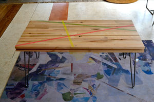 Coffee Table: Reclaimed Maple W / Hairpin Legs - furniture