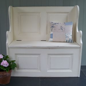 Small Monks' Bench Hand Painted In Any Colour - furniture