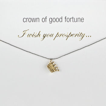 Crown Of Good Fortune Good Luck Charm Necklace