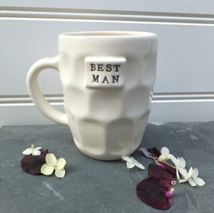 Handmade Mug With Wedding Personalisation