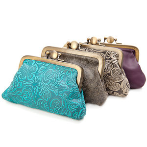 Leather Clip Purse - must have bags